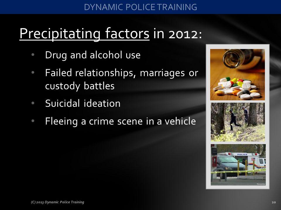 Precipitating factors in 2012: