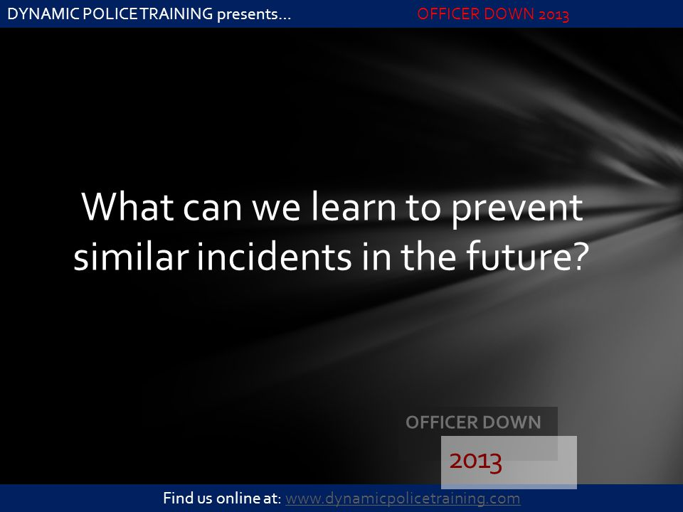 What can we learn to prevent similar incidents in the future