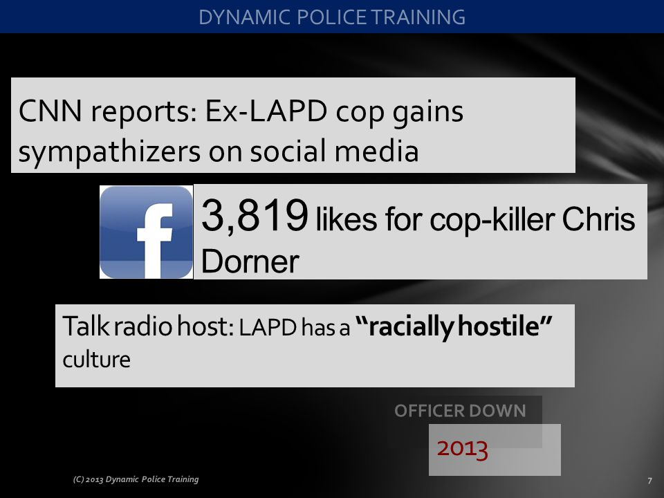CNN reports: Ex-LAPD cop gains sympathizers on social media
