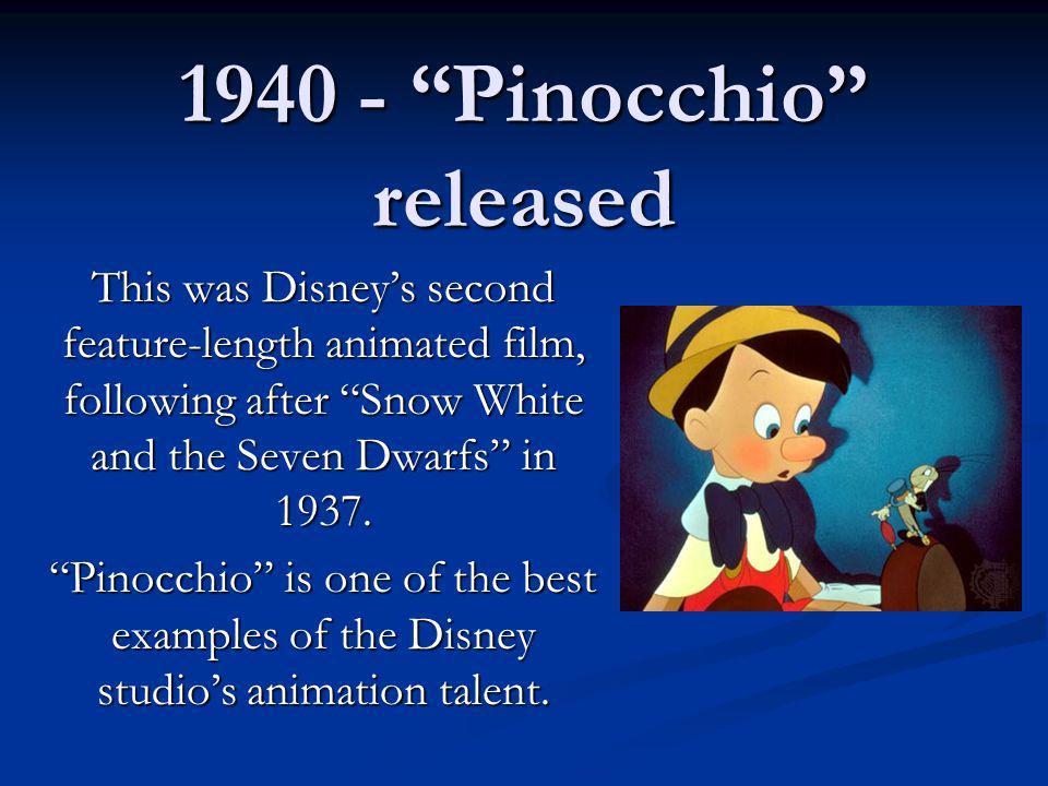 1940 - Pinocchio released