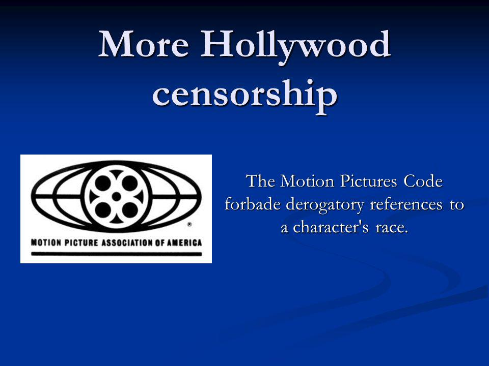 More Hollywood censorship