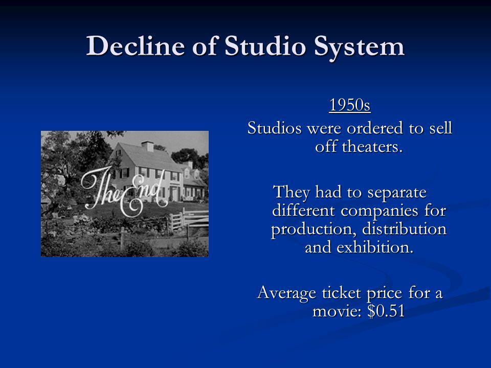 Decline of Studio System