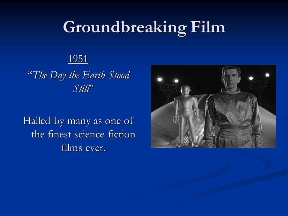 Groundbreaking Film 1951 The Day the Earth Stood Still