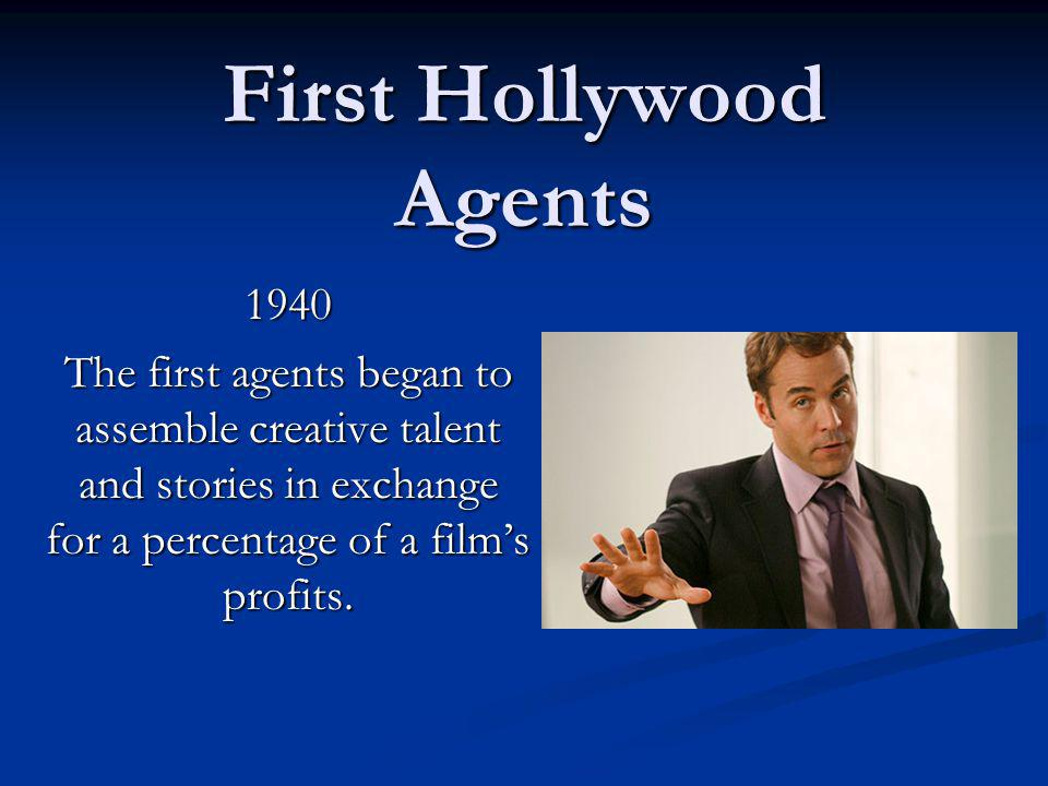 First Hollywood Agents