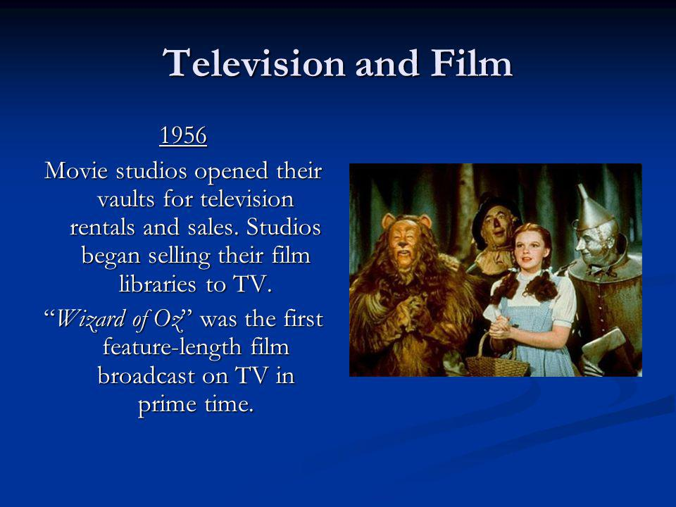 Wizard of Oz was the first feature-length film broadcast on TV.
