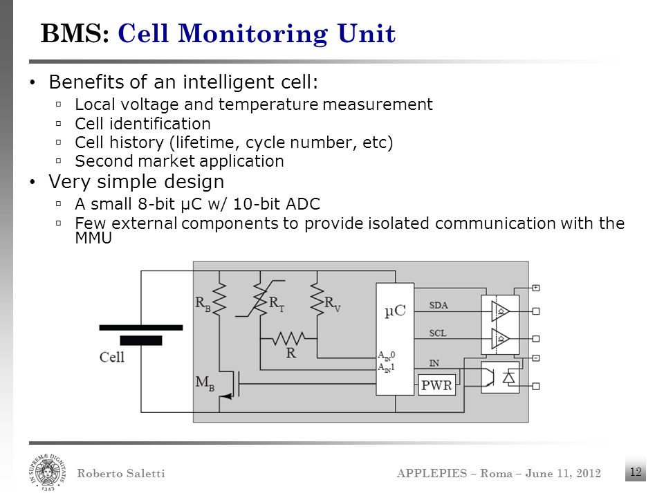 BMS: Cell Monitoring Unit