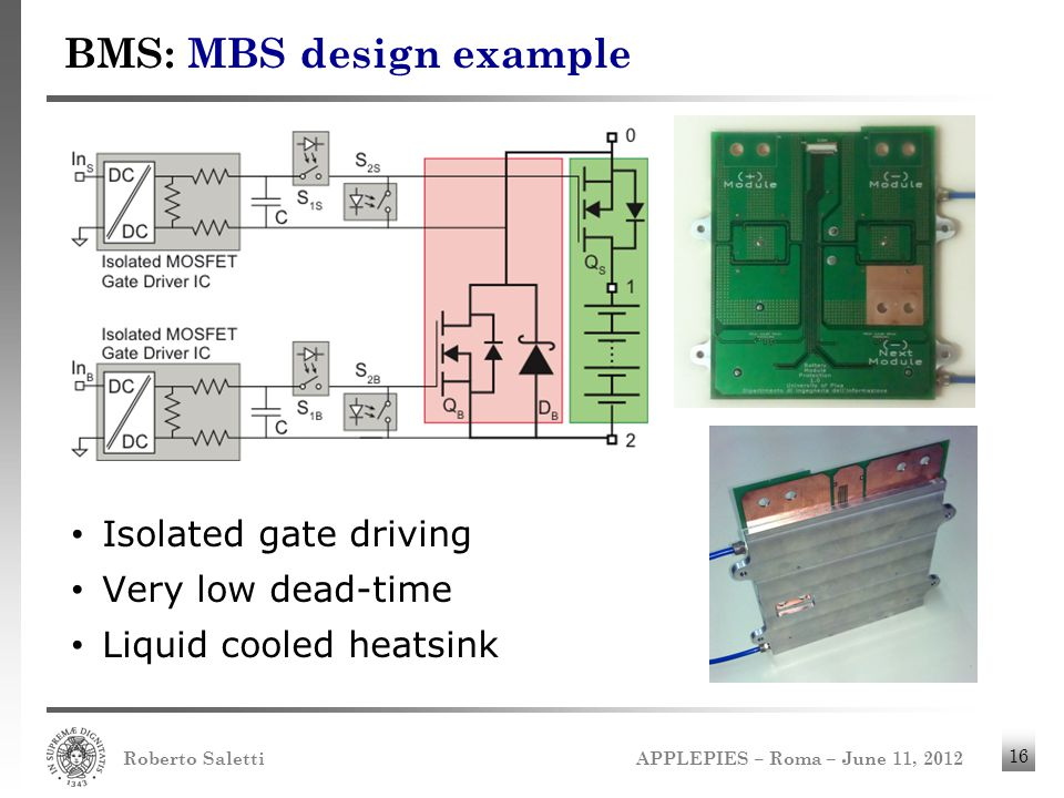 BMS: MBS design example