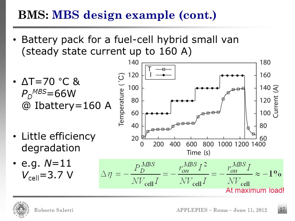 BMS: MBS design example (cont.)