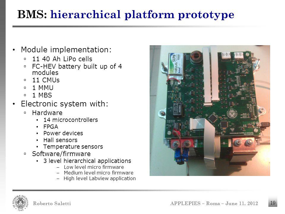 BMS: hierarchical platform prototype