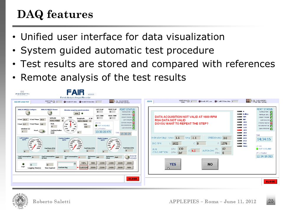 DAQ features Unified user interface for data visualization