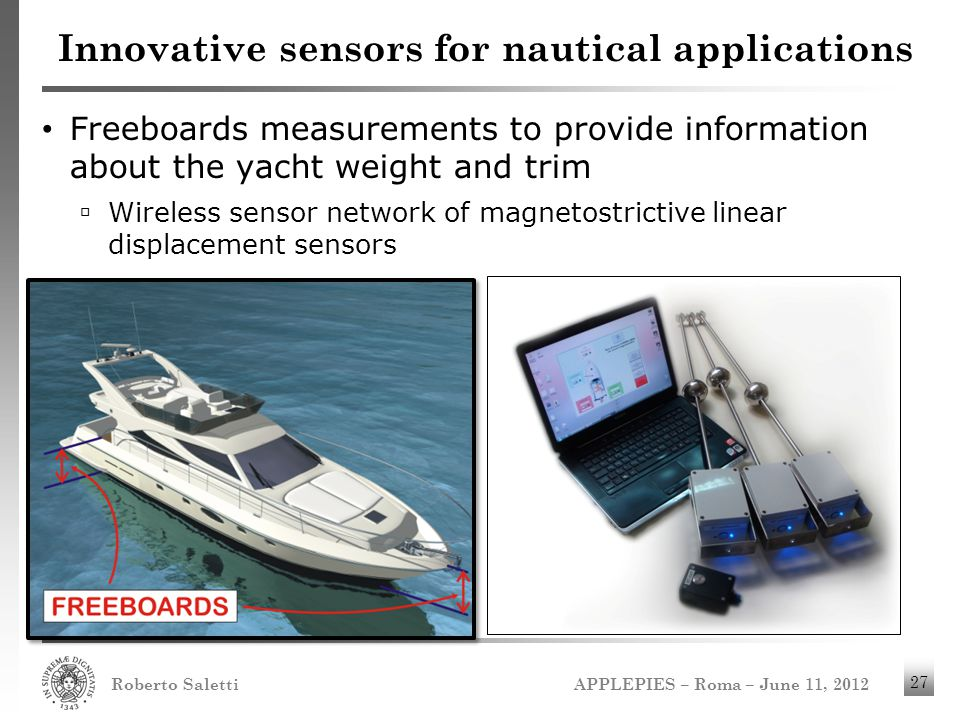 Innovative sensors for nautical applications