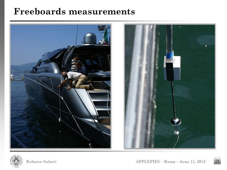 Freeboards measurements