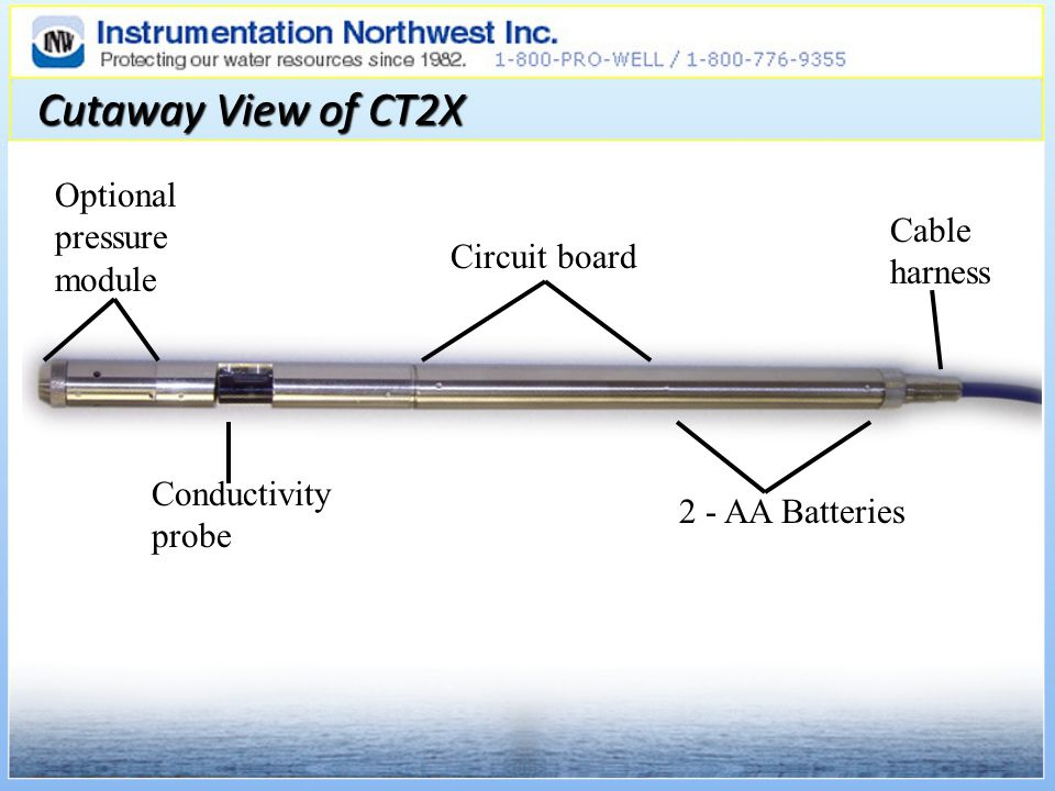 Cutaway View of CT2X Optional pressure module Cable harness