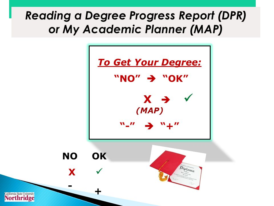 Reading a Degree Progress Report (DPR) or My Academic Planner (MAP)