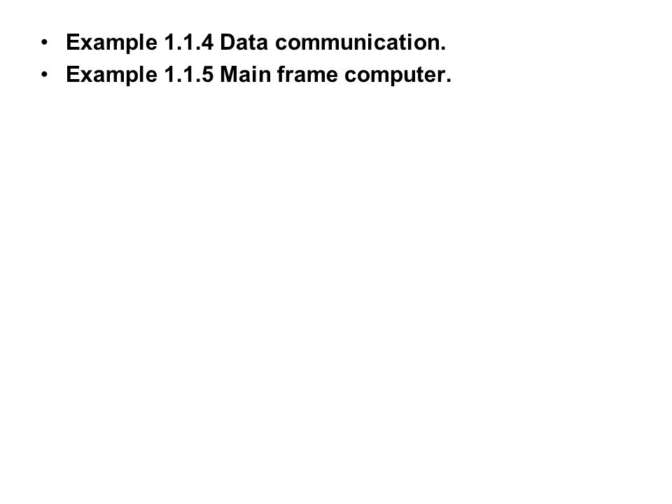 Example 1.1.4 Data communication.