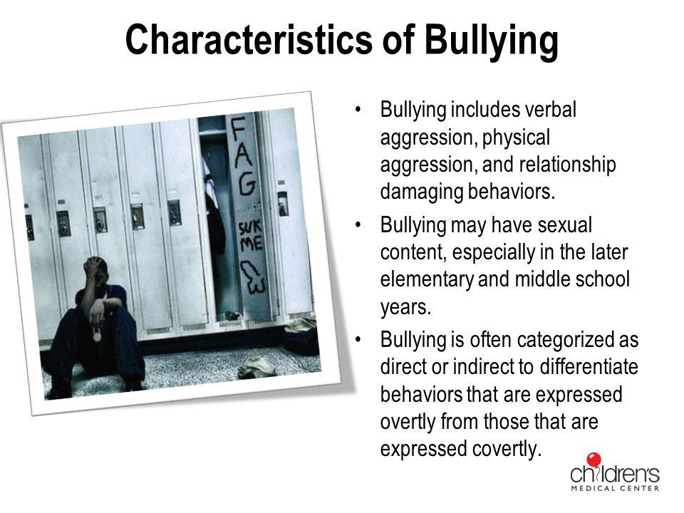 Characteristics of Bullying