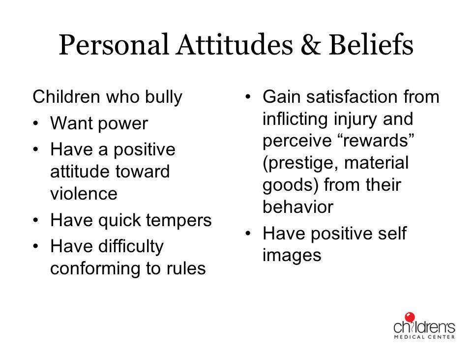 Personal Attitudes & Beliefs