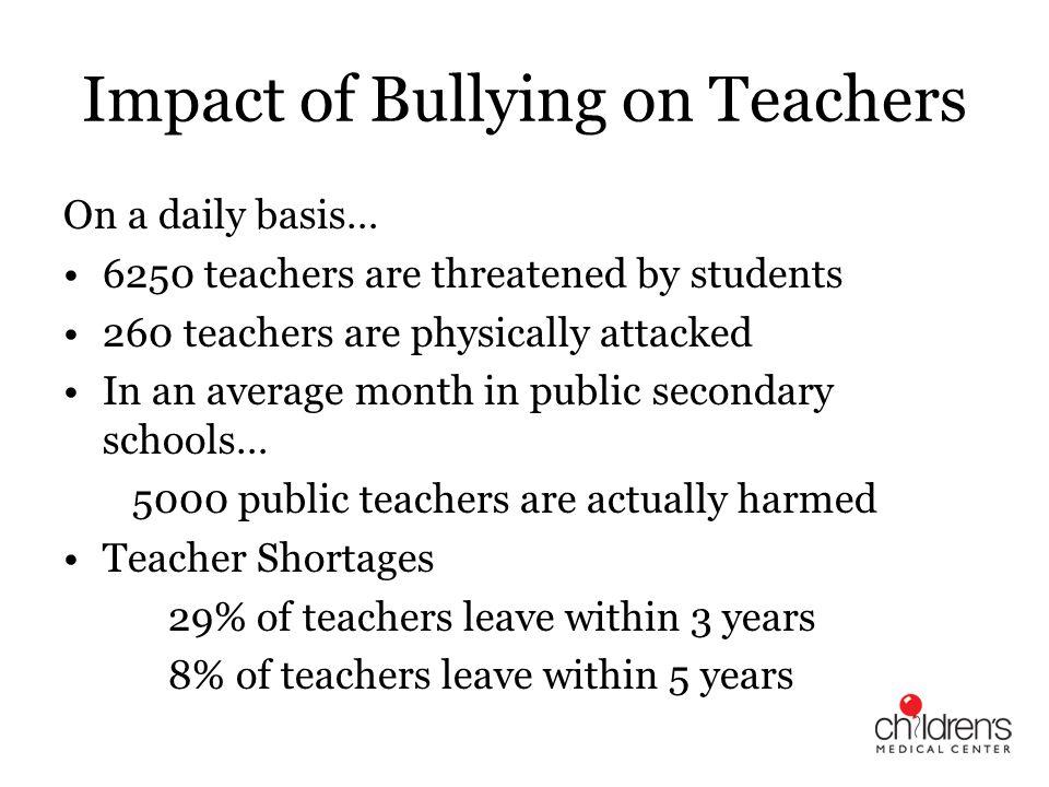 Impact of Bullying on Teachers