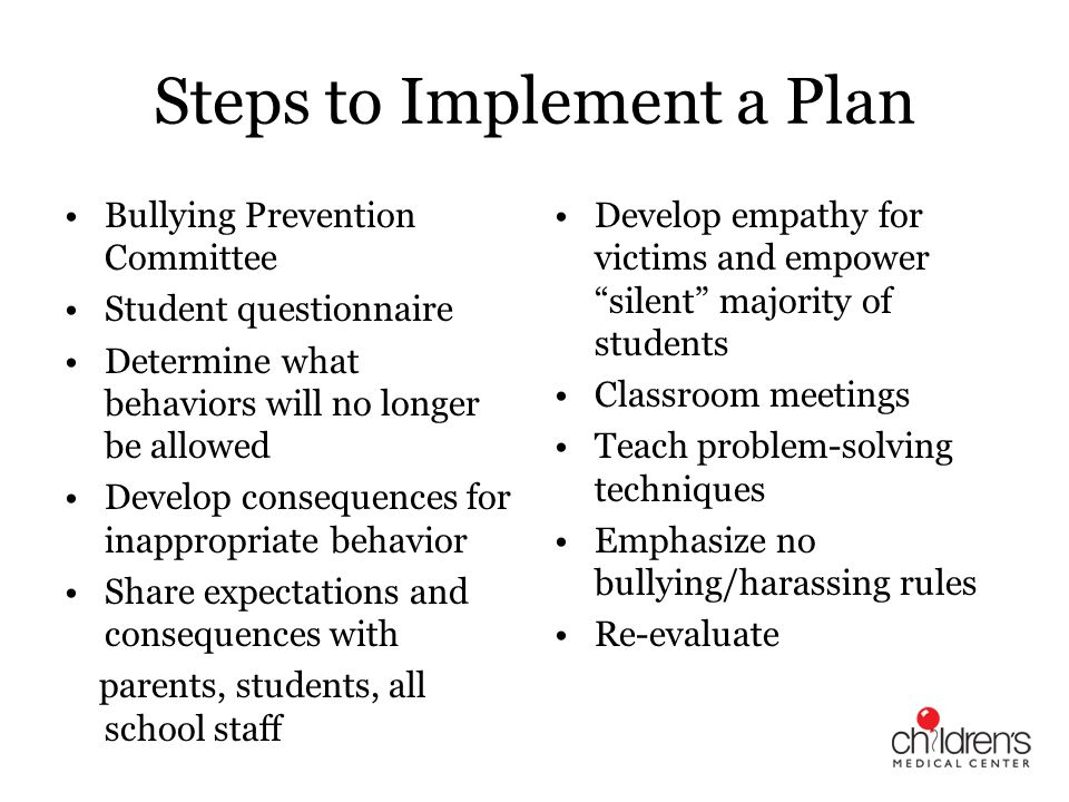 Steps to Implement a Plan