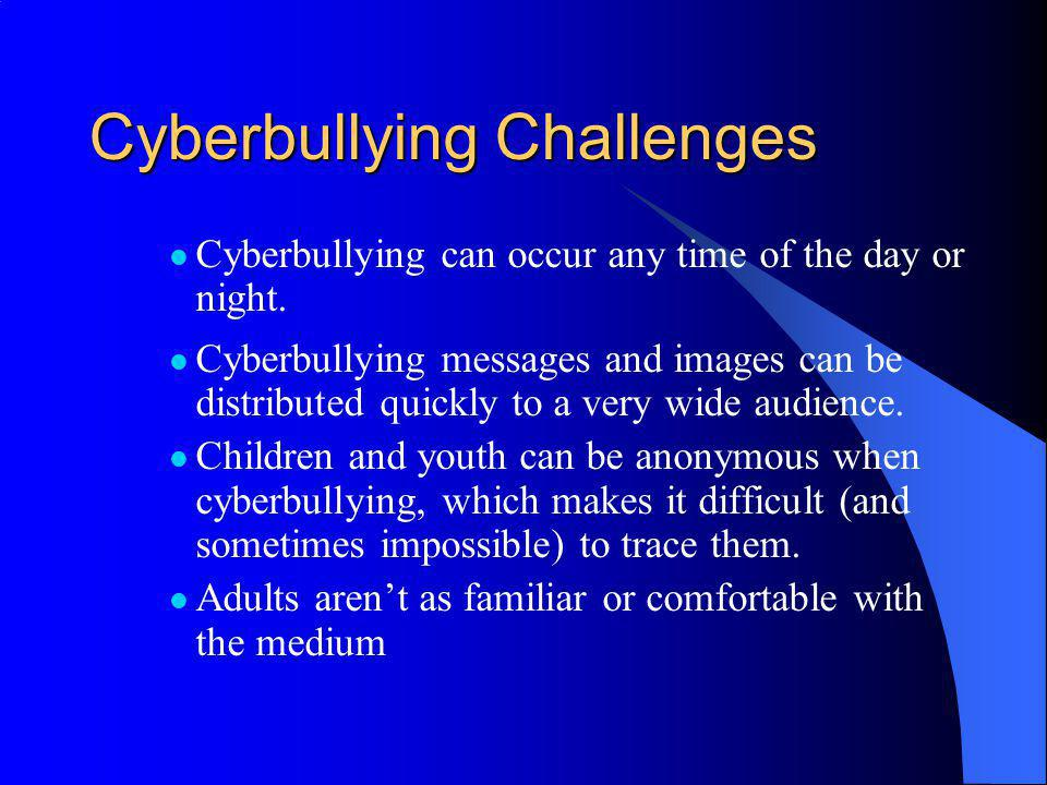 Cyberbullying Challenges