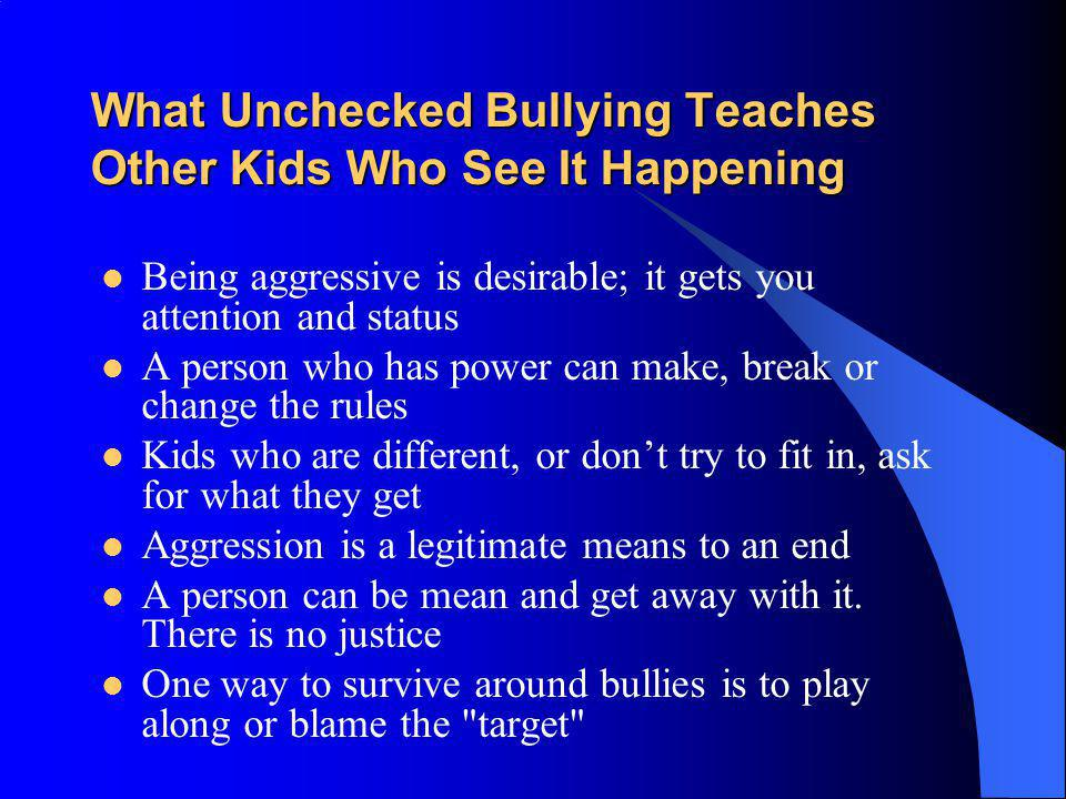 What Unchecked Bullying Teaches Other Kids Who See It Happening