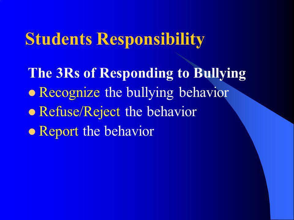 Students Responsibility