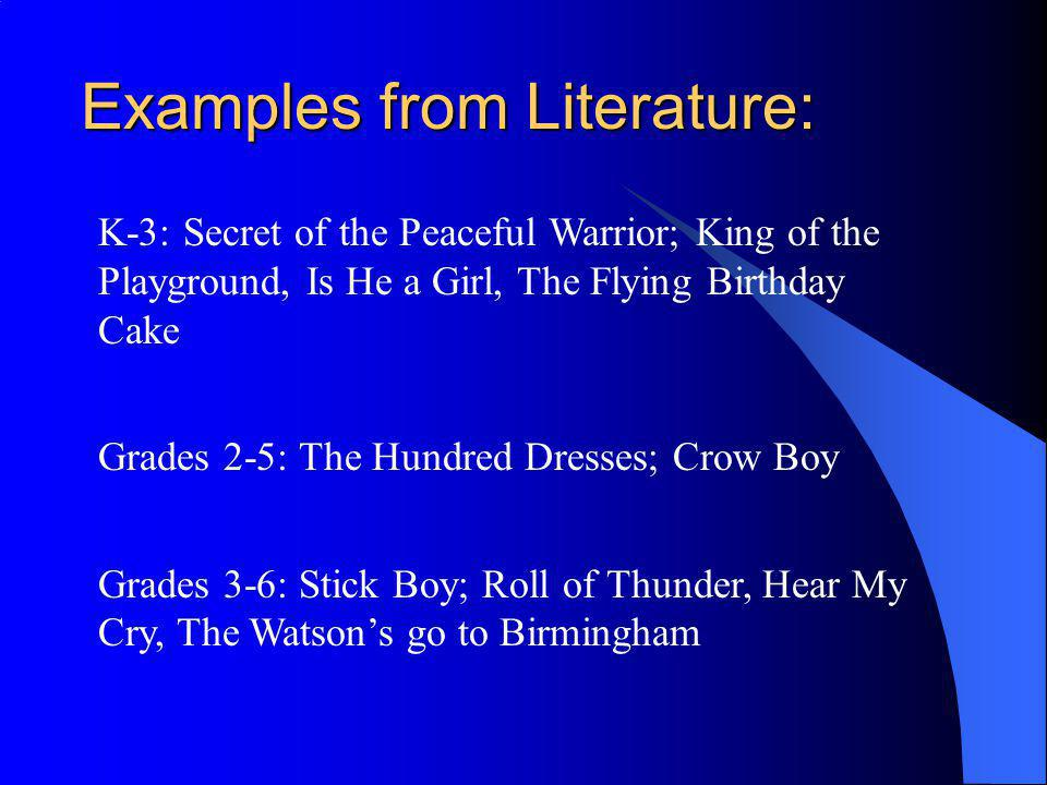 Examples from Literature:
