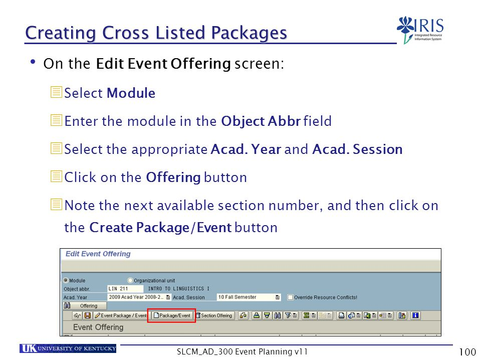 Creating Cross Listed Packages