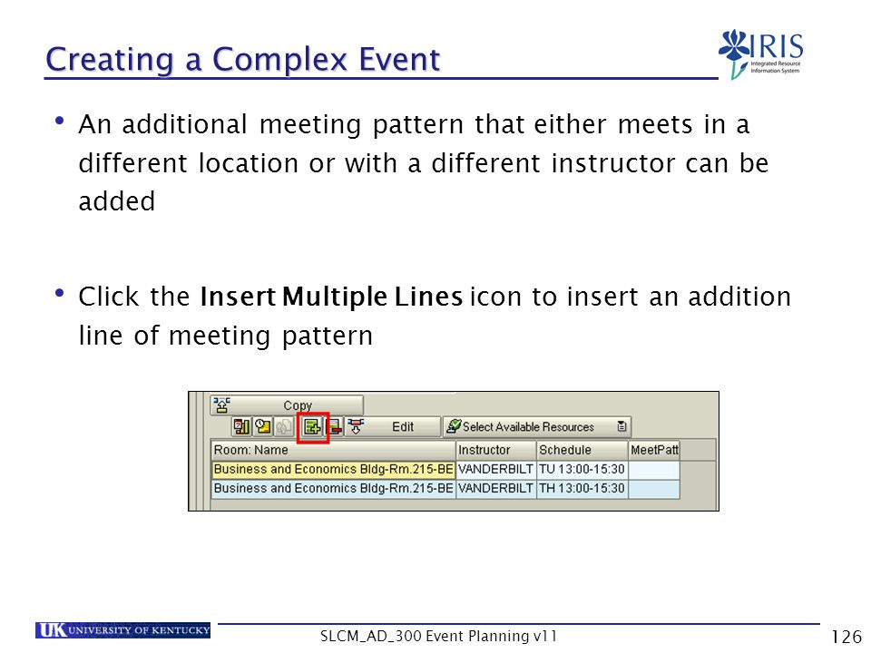 Creating a Complex Event