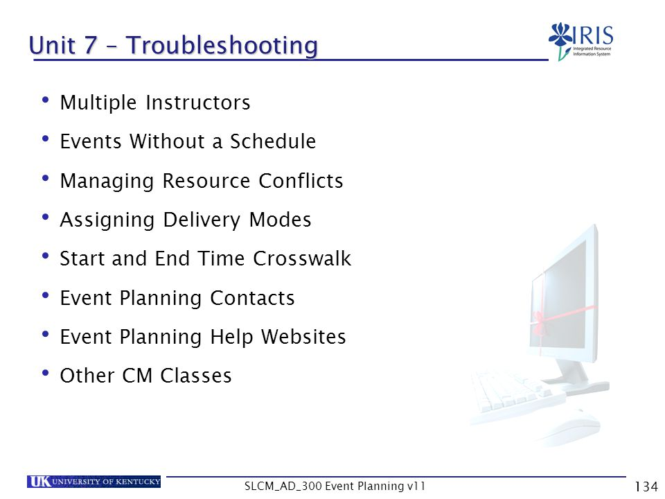 Unit 7 – Troubleshooting
