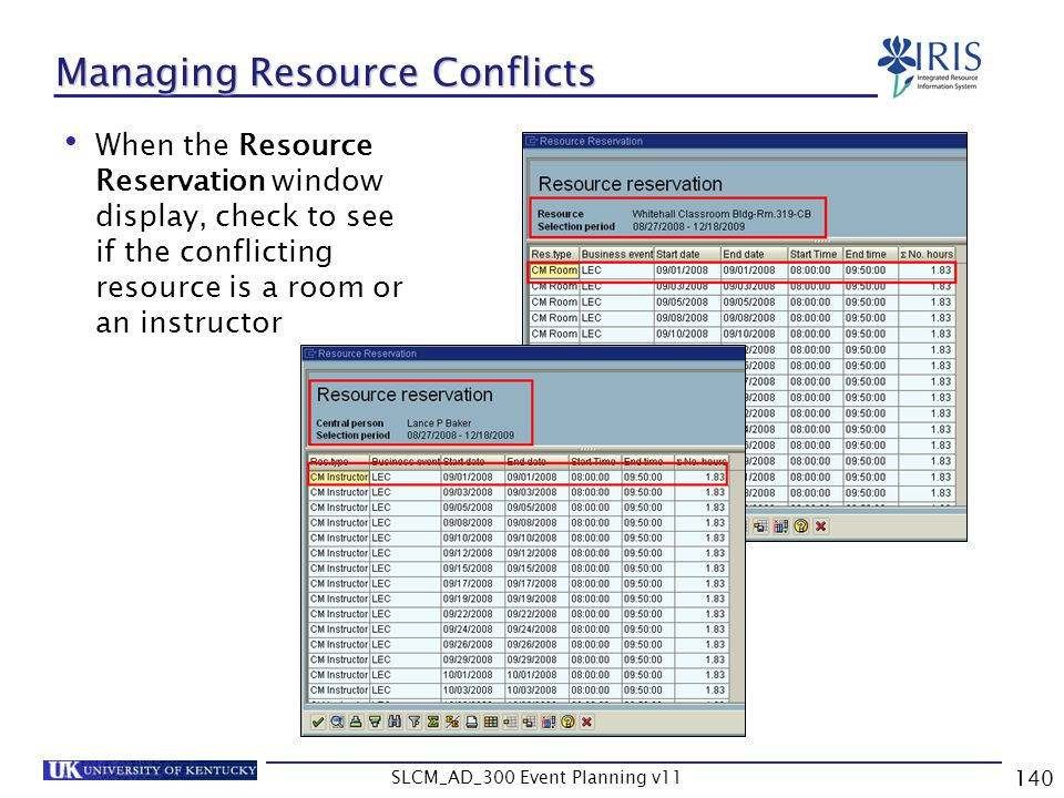 Managing Resource Conflicts