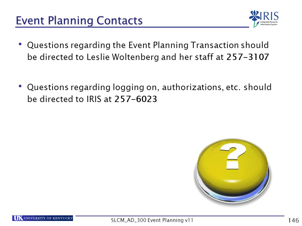 Event Planning Contacts