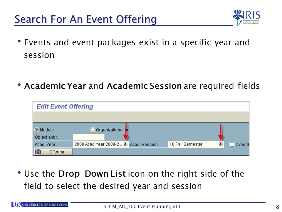 Search For An Event Offering