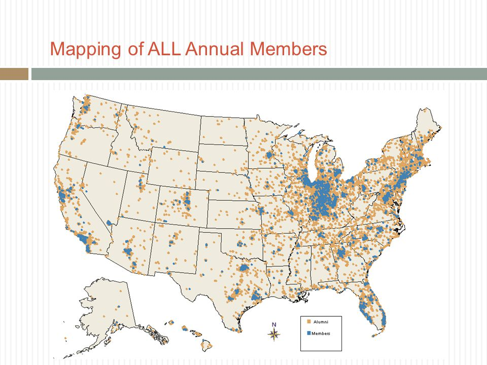 Mapping of ALL Annual Members