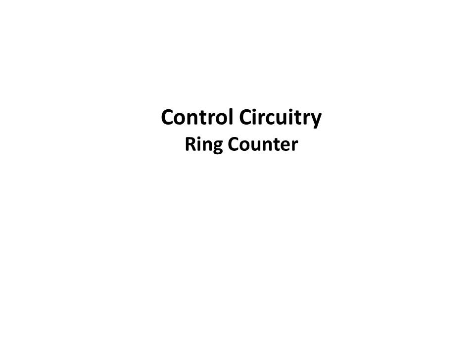 Control Circuitry Ring Counter