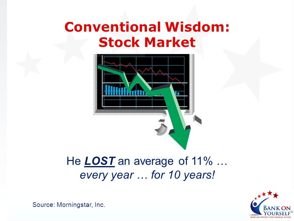 He LOST an average of 11% … every year … for 10 years!