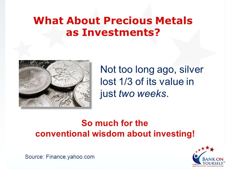 What About Precious Metals as Investments