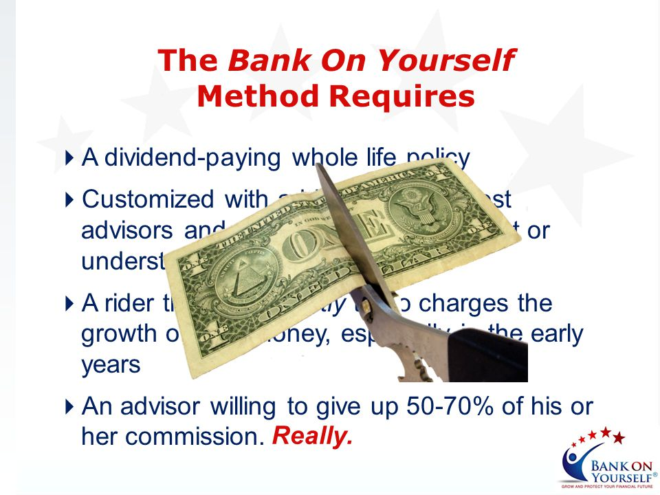 The Bank On Yourself Method Requires