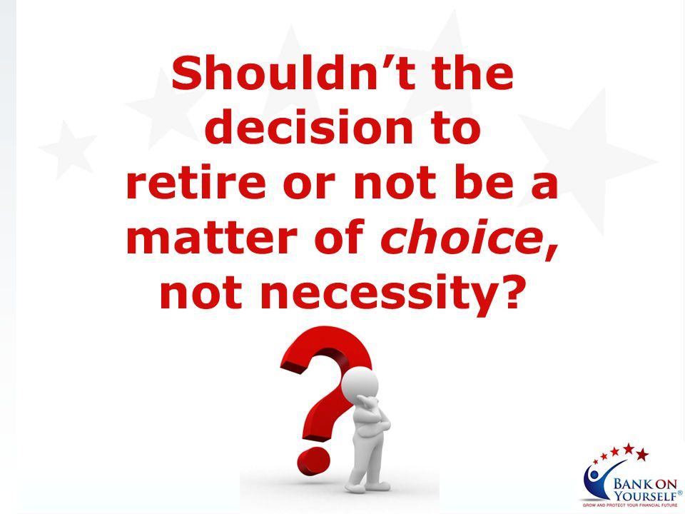 Shouldn't the decision to