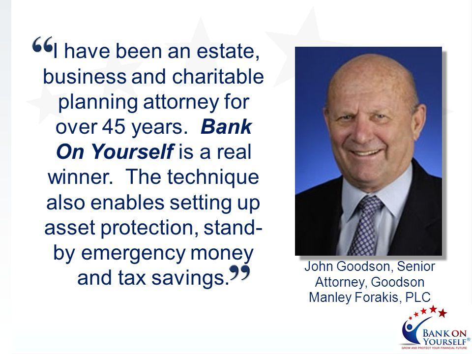 John Goodson, Senior Attorney, Goodson Manley Forakis, PLC