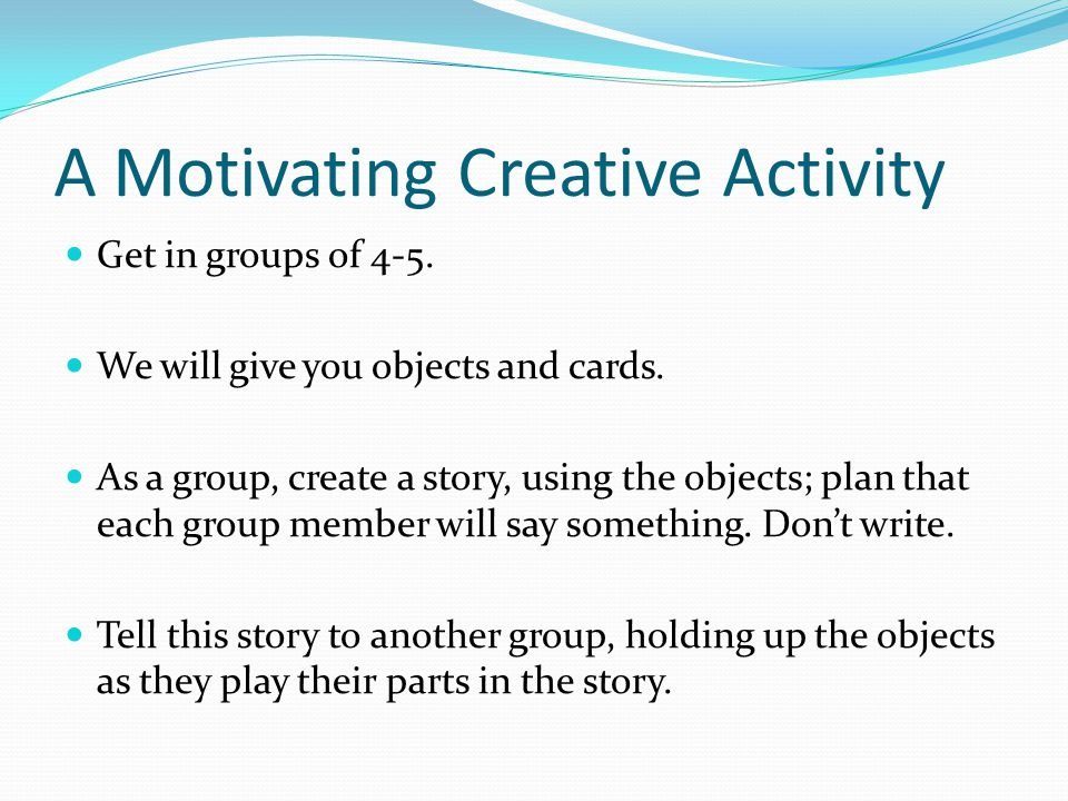 group story writing activity