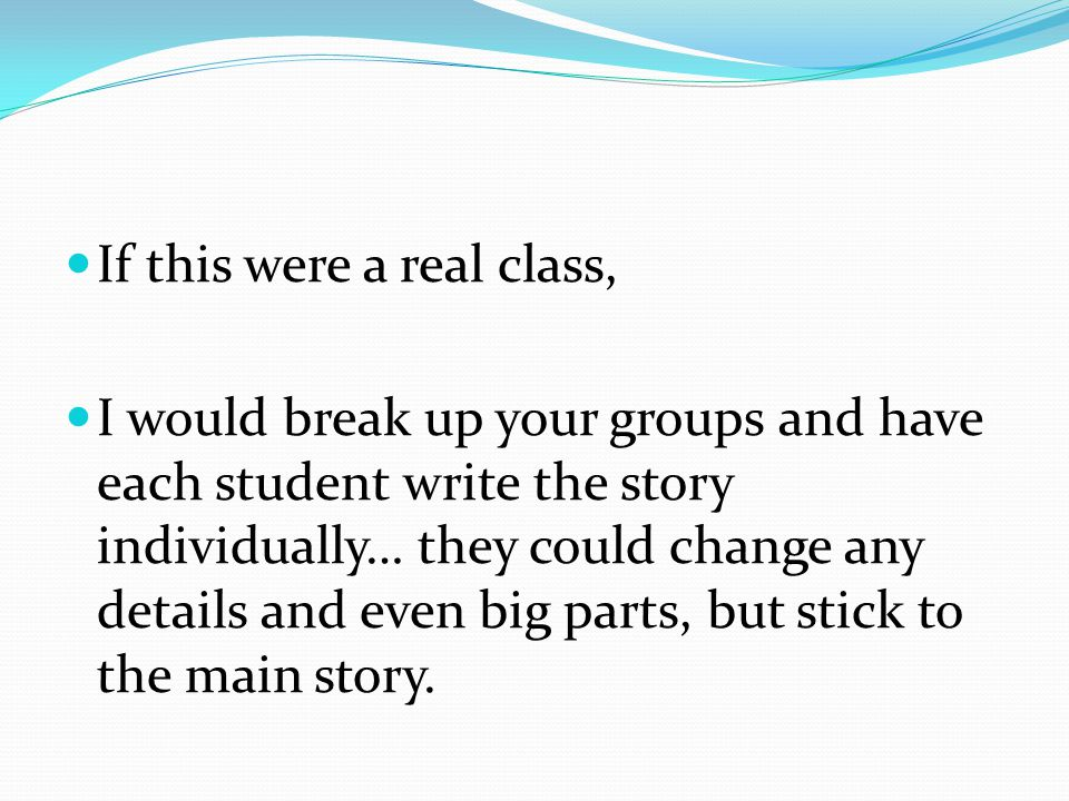 If this were a real class,