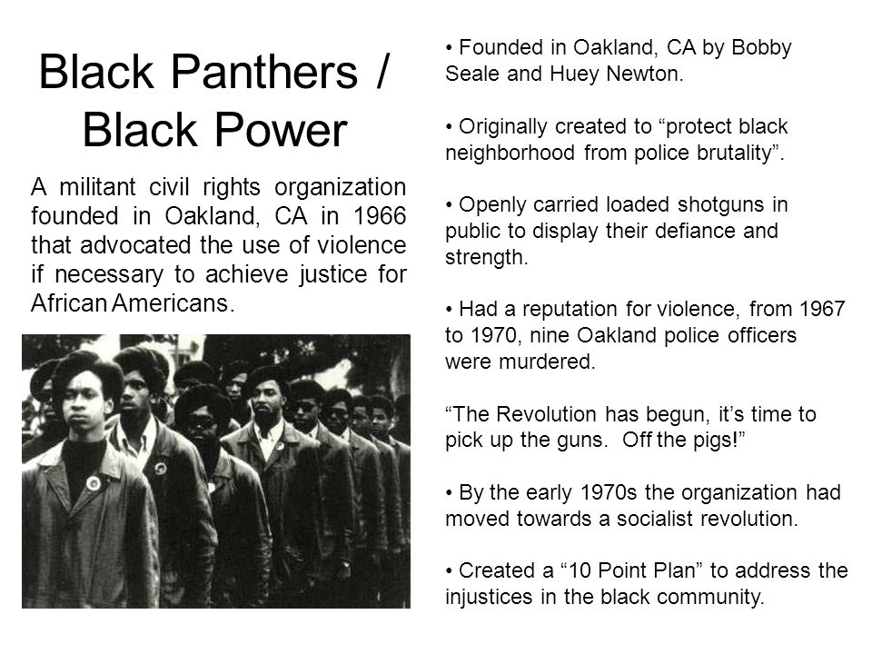 Black Panthers / Black Power