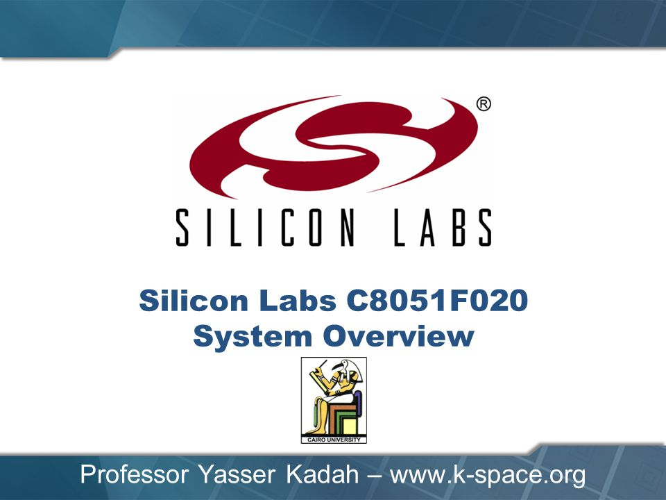 Silicon Labs C8051F020 System Overview