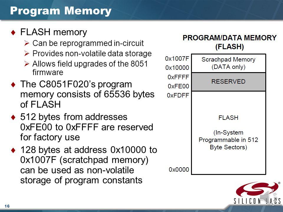 Program Memory FLASH memory