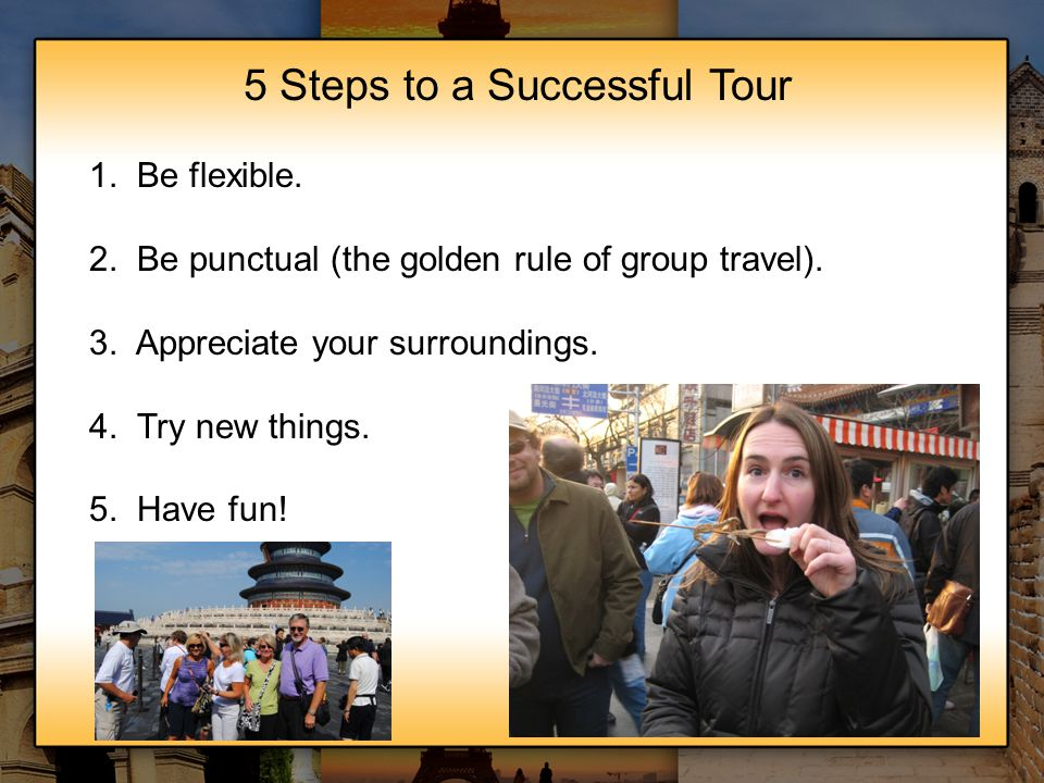 5 Steps to a Successful Tour