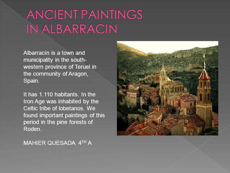 ANCIENT PAINTINGS IN ALBARRACIN