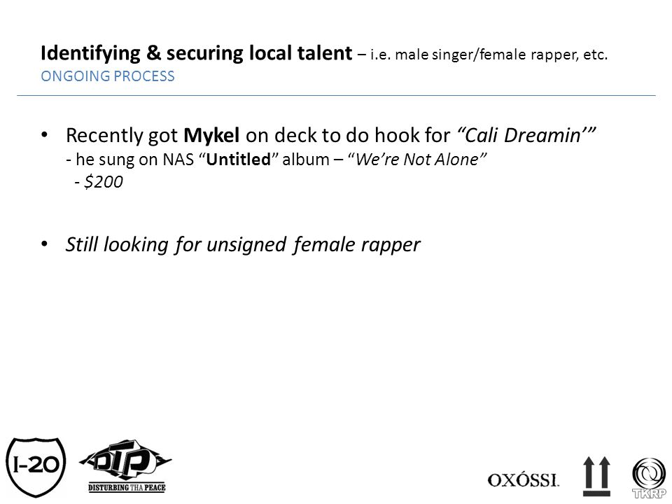 Identifying & securing local talent – i. e