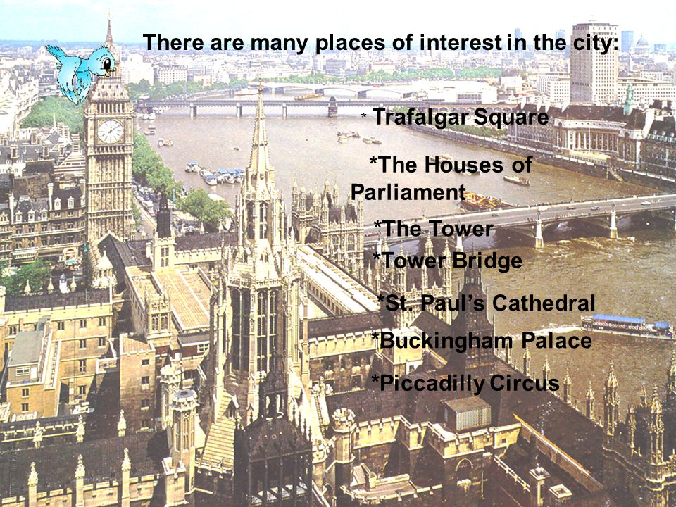 There are many places of interest in the city: