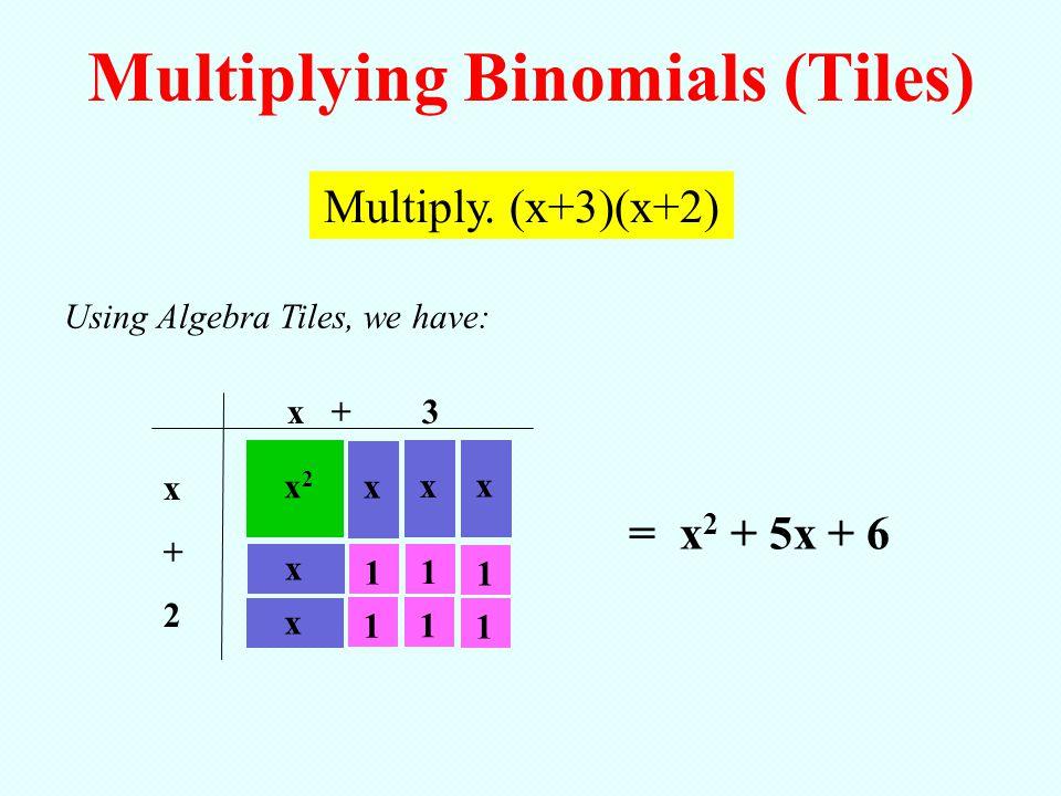 Multiplying Binomials (Tiles)